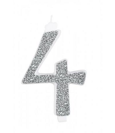 candela gigante argento 4- 13 cm