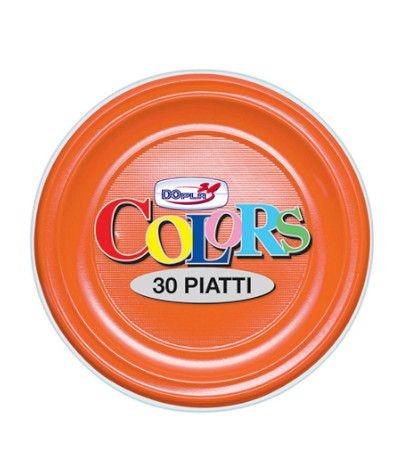 piatti piani dopla arancione- 30 pezzi
