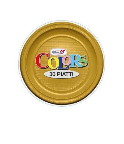 piatti piani dopla oro- 30 pezzi