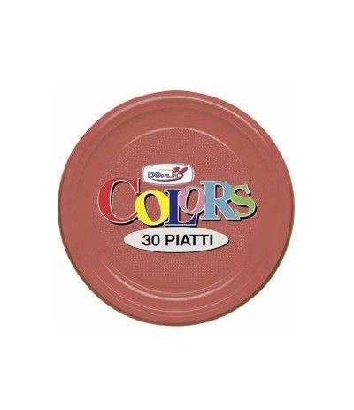 piatti piani dopla rossi- 30 pezzi