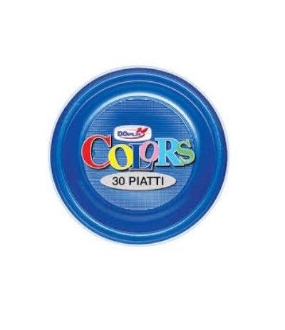 piatti piani dopla blu- 30 pezzi