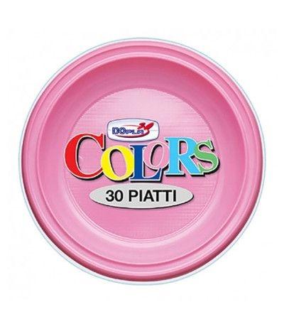 piatti piani dopla rosa- 30 pezzi
