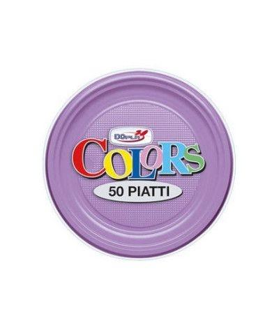 piattini dopla lilla- 50 pezzi