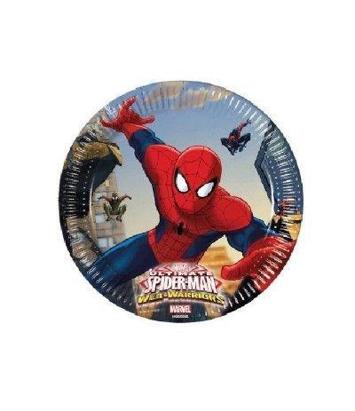 piattini spiderman- 8 pezzi