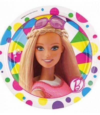 Piatti Piccoli Barbie - 8 Pezzi