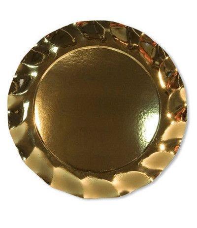 piatti maxi oro cm 32.4- 5 pezzi