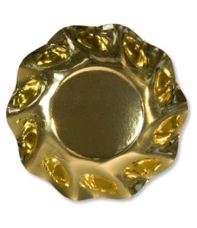 coppette oro cartone cm 18,5 - 10 pezzi