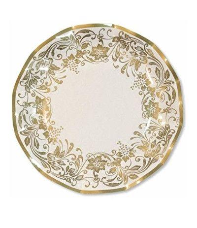 piatti noblesse oro cm 24- 10 pezzi