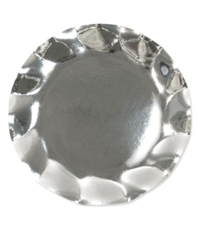 piatti maxi argento cm 32.4- 5 pezzi