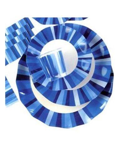 piatti cartone multicolor blu cm21- 10 pezzi