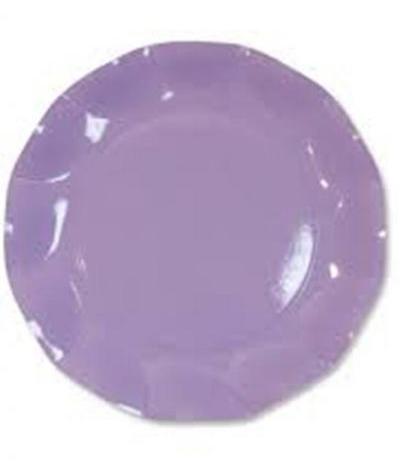 piatti cartone lilla cm 21- 10 pezzi