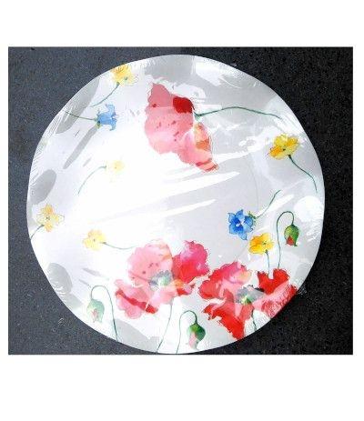piattini tulipano fiori di campo cm 24- 10 pezzi