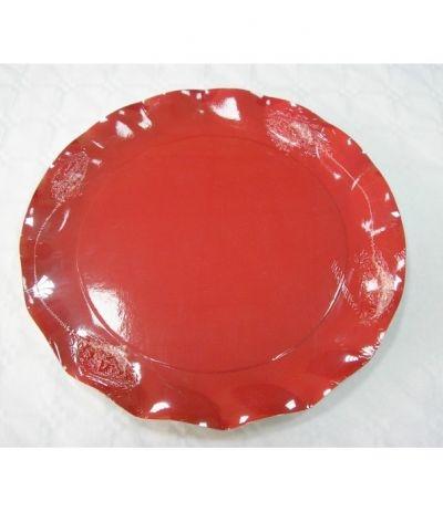 piatti rossi cm 27- 5 pezzi
