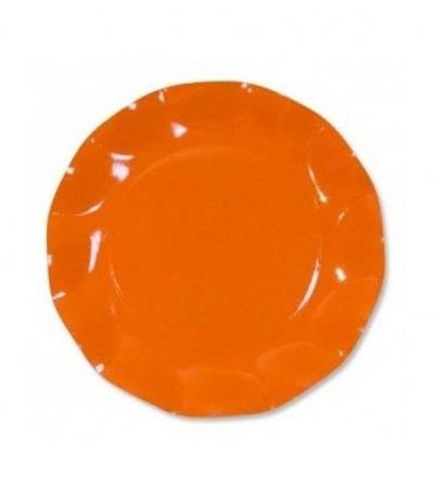 piattini piccoli arancio cm 21- 10 pezzi