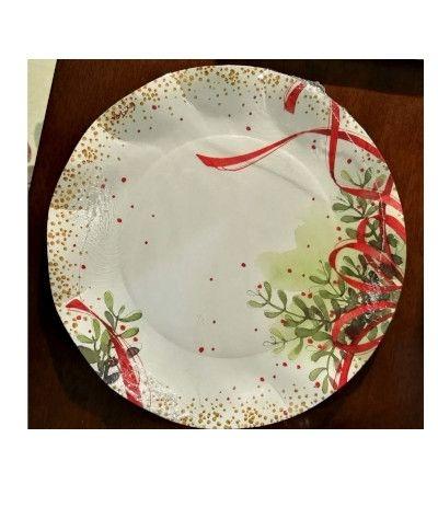 piatti grandi cm 27 christmas bouquet- 8 pezzi