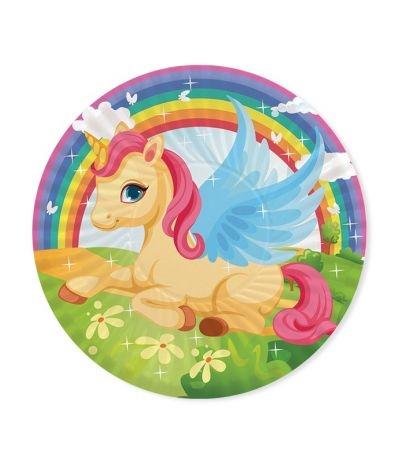 Piatti piccoli unicorno- 8 pezzi