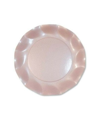 piatti rosa perlato cm 24- 10 pezzi