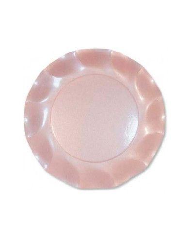 piatti rosa perlato cm 21- 10 pezzi