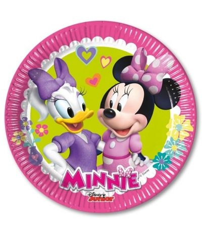 "Piatti Piccoli Minnie e Paperina ""Happy Helpers"" - 8 Pz"