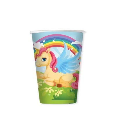Bicchieri unicorno- 8 pezzi