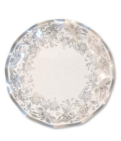 piatti noblesse argento 21 cm- 10 pezzi