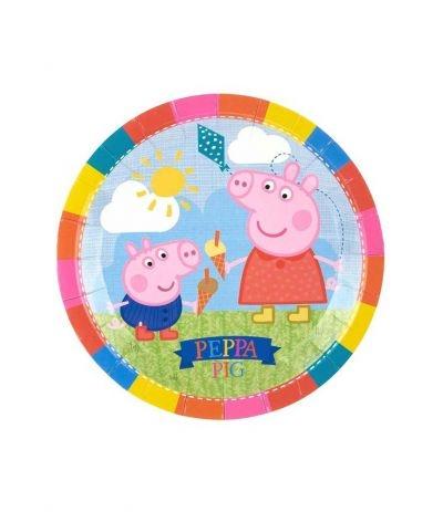 Piatti Grandi Multicolore Peppa Pig - 8 Pezzi