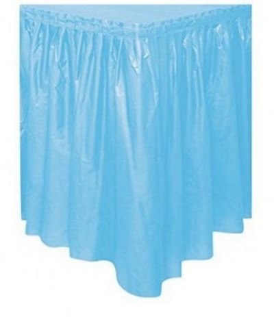 tovaglia gonnellina azzurra- 426 x 73,5 cm