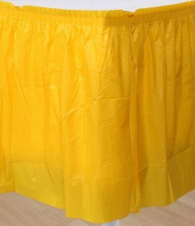 tovaglia gonnellina giallo