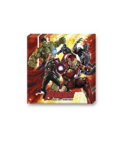 Tovaglioli Avengers Rosso - 20 Pezzi