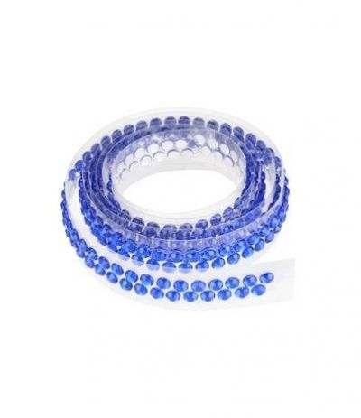 nastro con strass modecor blu