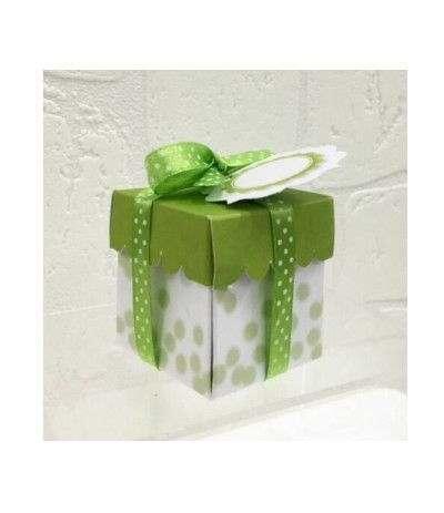 scatola quadrata verde (10x20)- 20 pezzi