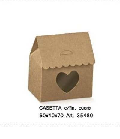 casetta cuore marrone