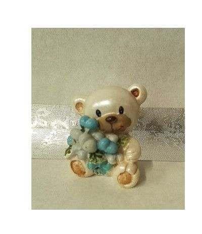orsetto per confettata azzurro- 10 pezzi