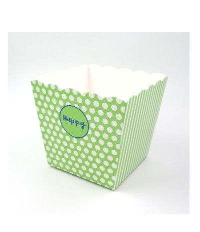 6 scatole happy grandi verdi 150x150x180 mm