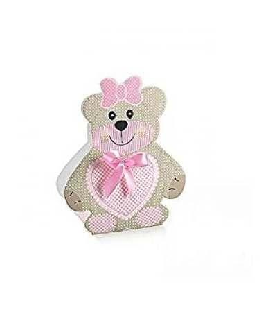 scatola orsetto rosa- 10 pezzi