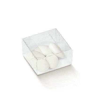 scatola quadrata trasparente bassa 6x6x3- 10 pezzi