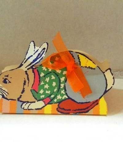 confettata scatolina colorata coniglio