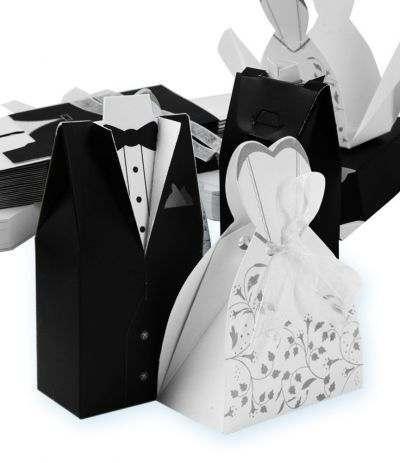 scatolina abito sposa con nastrino