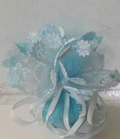 tulle tirante azzurro fiorellino piccolo