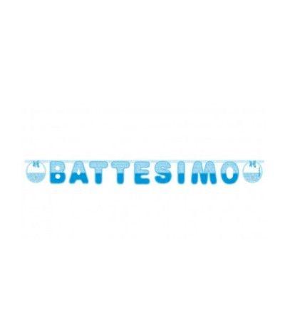 Festone Battesimo Boy 215X22Cm