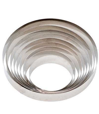 cerchio decora acciaio cm 12x4.5h