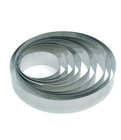 cerchio decora acciaio cm 36 x 4.5 h