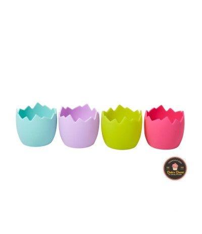 Pirottini silicone multicolore uovo schiuso Wilton - 4 pezzi