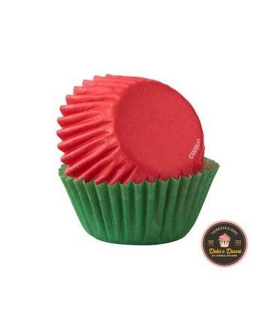 Pirottini mini natalizi rossi e verdi- 100 pezzi