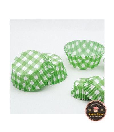Pirottini piccoli verdi con pois bianchi -100 pezzi