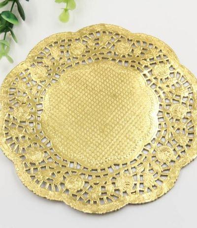 centrini oro 40 pezzi, 10 cm