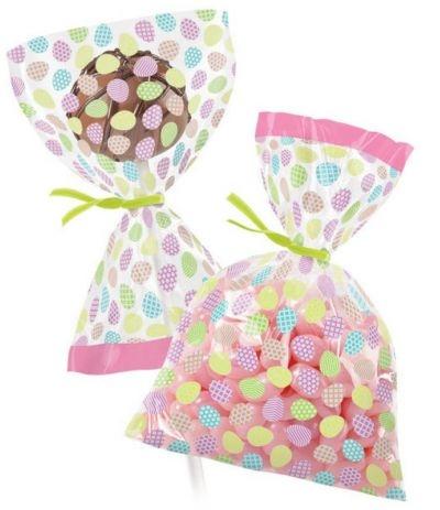 mini sacchetti con uova decorate- 25 pezzi