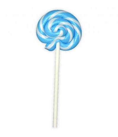 lecca lecca spirale bianco e azzurro- 30 gr