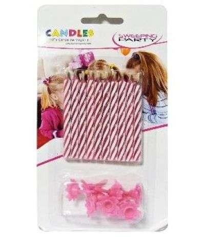 candeline magiche rosa- 10 pezzi