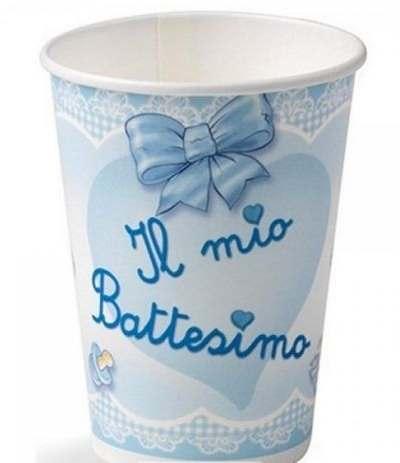 bicchieri il mio battesimo azzurro fiocc- 10 pezzi